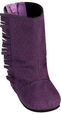 """SALE! Purple Boots w/ Fringe for 18"""" American Girl Doll Clothes"""