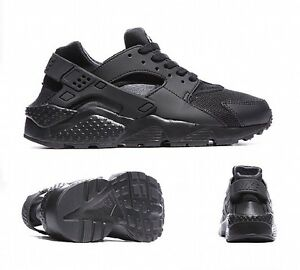 8e4a4c8cc4 NIKE AIR HUARACHE RUN GS BLACK JUNIOR/WOMEN TRAINER TRIPLE BLACK ...