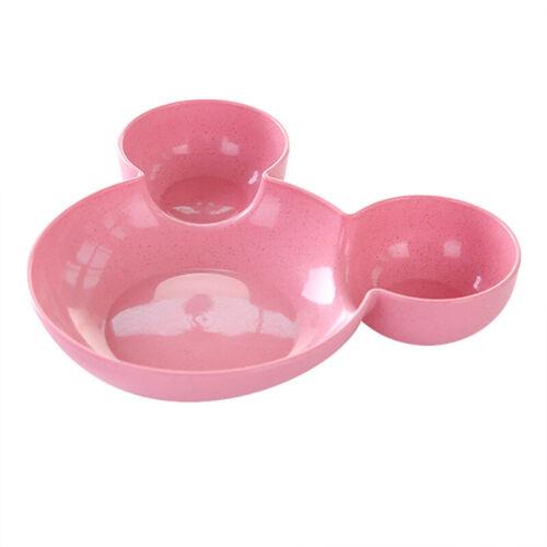 Child Cartoon Mickey Straw Bowl Creative Friendly Bowls Cereal Ice Cream Plate