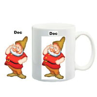 Snow White and Seven Dwarfs Doc Mug, Personalised Seven Dwarfs Doc Mug