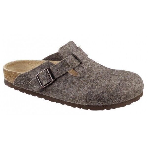 Pantofole da uomo Birkenstock BOSTON 160581 Reg unisex uomo donna punta chiusa Mule Ciabatte cacao