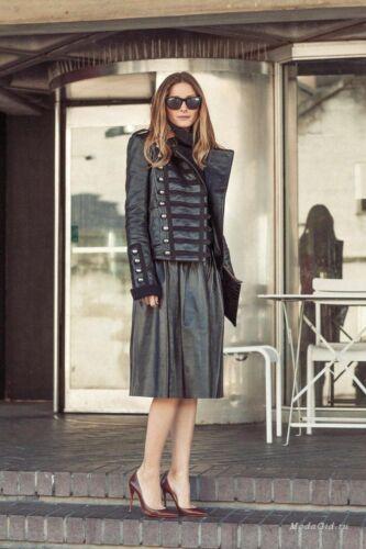 noir militaire en Olivia noires femmes de New style Bnwt Palermo pour cuir Veste qBn4w8