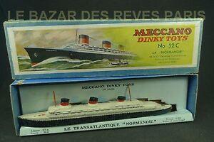 Dinky Toys France. Transatlantique Paquebot Normandie Boite. Ref 52 C.