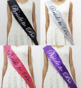 Black-Pink-Gold-Team-Bride-Hen-Night-Do-Party-Sashes-Bride-To-Be-Bridesmaid-Sash