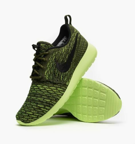 more photos 09717 89f98 NIKE ROSHE ONE FLYKNIT WOMEN S RUNNING TRAINING SHOES ROUGH GREEN 704927 301