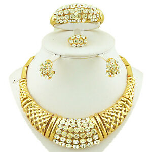 Cheap Sales Rhinestone Gold Plated Costume Fashion Party Necklace Jewellery Set - Basildon, United Kingdom - Cheap Sales Rhinestone Gold Plated Costume Fashion Party Necklace Jewellery Set - Basildon, United Kingdom