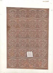 Etain-Plafond-Estampille-Cuivre-1-12-Echelle-Maison-de-Poupee-Miniature