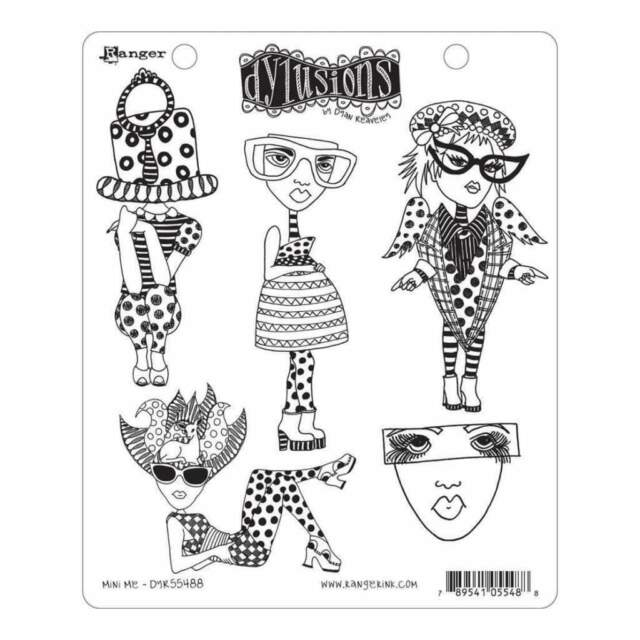 Dyan Reaveleys Dylusions Cling Stamp Collections 8.5X7 - Mini Me