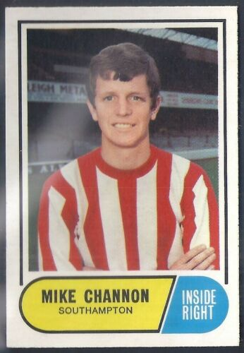 SOUTHAMPTON MIKE CHANNON A/&BC-FOOTBALL 1969 GREEN BACK FACTS-#014