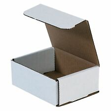 50 Pack 5x4x2 Small White Cardboard Carton Mailer Mailing Shipping Box Boxes