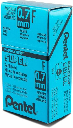 144 Pieces of Lead 0.7mm Medium Pentel 50-F Super Hi-Polymer Lead Refill F