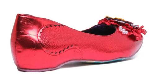 Little Dsy Choice Lady Size 8 Womens Flat Uk 3 Irregular Red Synthetic Ow5Tcqpq4S