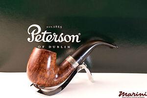PFEIFE PIPES PIPE PETERSON OF DUBLIN WICKLOW X220 CURVA RADICA ORIGINALE SILVER