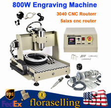 3040 Cnc Router Engraving Machine 5 Axis Engraver Drilling Milling Cutting 800w