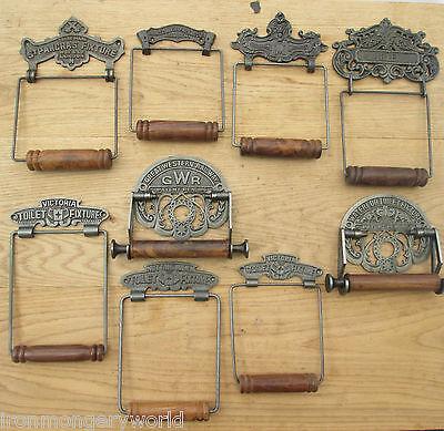 rustique vintage Cast iron Porte-rouleaux de papier design en fer antique gwr ornée retro