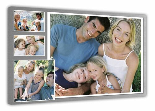 4 photos d906 Personalised Photo Collage Printed framed canvas ready to hang