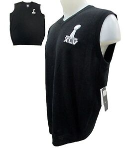 ba9f2a72 Details about NFL Super Bowl XLV 45 Champ - Green Bay Packers Sleeveless  Sweater Vest Men A14