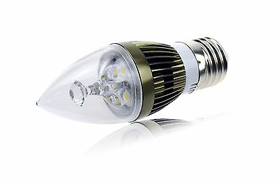 6/8/10W E12 E14 E27 Dimmable Sharp LED Chandelier Candle Light Bulb AC 110/220V