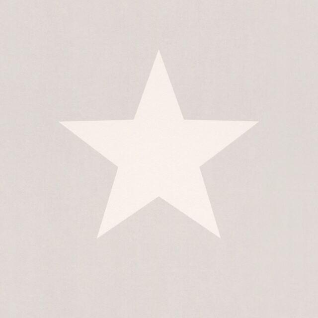 Rasch Estrellas Papel Pintado - Blanco y Gris 248128 Nuevo