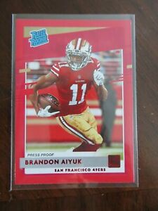 2020-Donruss-Football-Card-Rated-Rookie-Brandon-Aiyuk-Press-Proof-Red-Cards-NFL