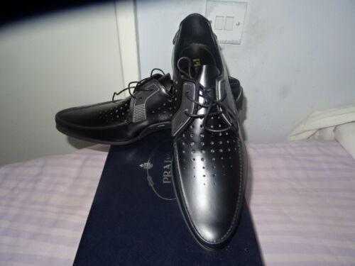 de Spazzolato Uk con negras 7 Zapatillas 550 Sz eu41 Rrp perforadas Prada deporte cordones wAgxSF5qnC