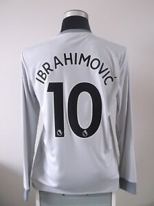 Image is loading IBRAHIMOVIC-10-BNWT-Manchester-United-Third-Football-Shirt-
