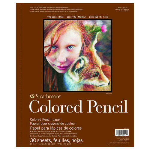 STRATHMORE PACON PAPERS 47711 COLORED PENCIL DRAWING PAD 400 SERIES 30 SHEE...