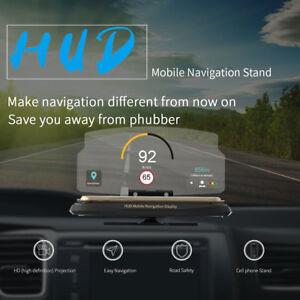 """6/"""" Car HUD Holder Head Up Display Projector Bracket for GPS Navigation Phone"""