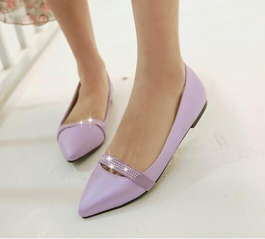 Ballerine viola mocassini scarpe donna eleganti viola Ballerine strass  tacco 1 cm comode 8288 edaaa2
