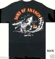 Sons Of Anarchy Charging Reaper Samcro Biker Short Sleeve T-shirt - Small