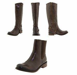 JUICY-COUTURE-WOMEN-039-S-CALRTON-KNEE-HIGH-FASHION-RIDING-BROWN-LEATHER-BOOTS