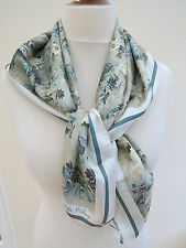 NEW!!Laura Ashley Heirloom Floral Bloom 100% Silk Square Scarf - slight second