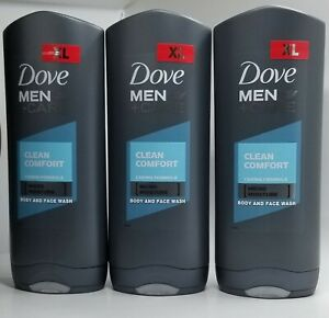 Pack Of 3 Dove Men Care Clean Comfort Micro Moisture Face Body Wash 400 Ml Ebay