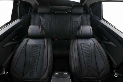 Autositzbezug rot schwarz Sitzbezüge Kunstleder Schonbezüge Komplettset  Komfort