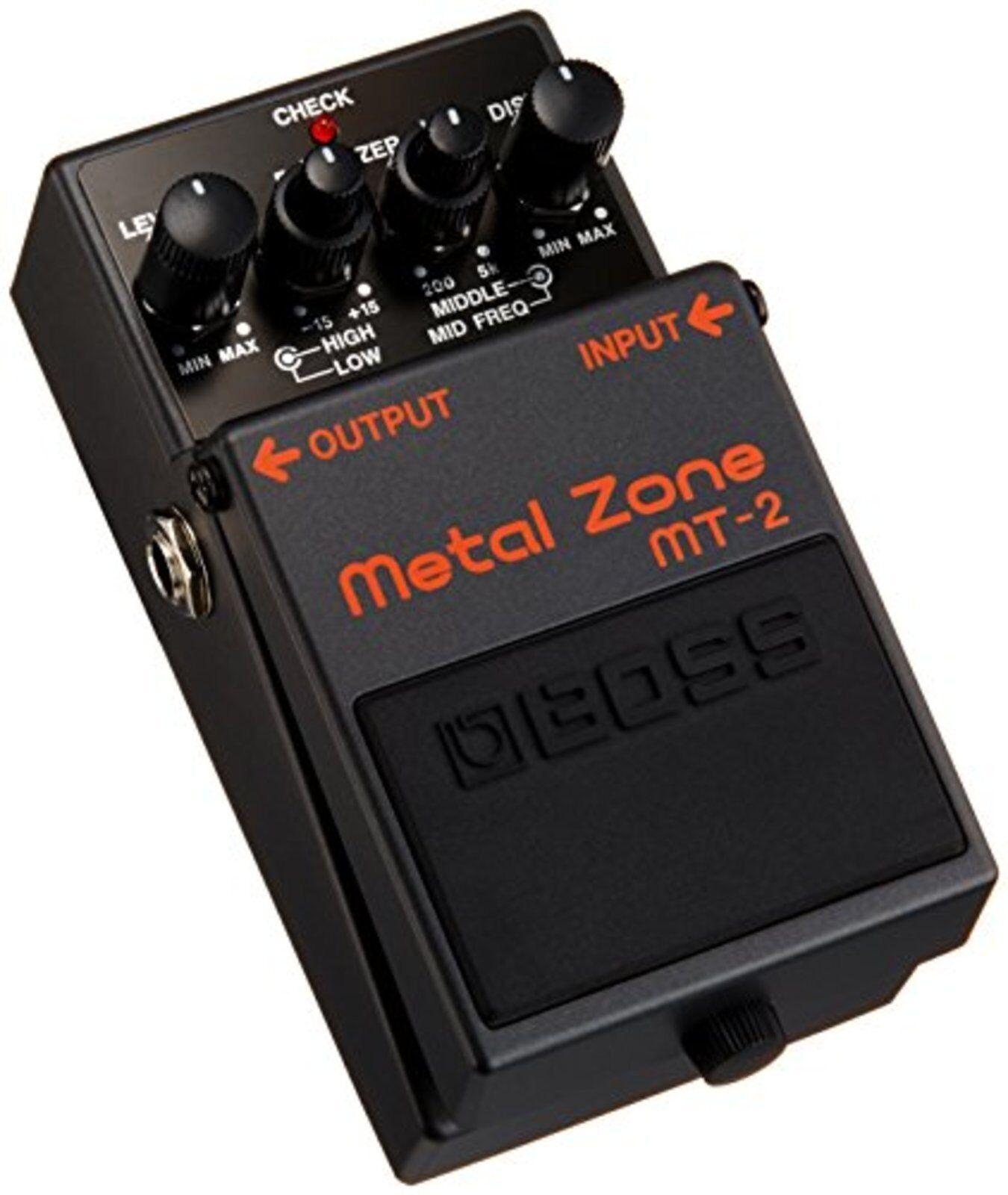 Boss Metall Zone Mt-2 Effekt Pedal mit Abtastung   Neu aus Japan