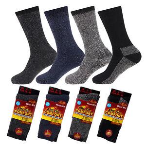 4-PAIRS-Mens-Arctic-Comfort-Thermal-Socks-Winter-Thick-Wool-Socks
