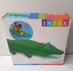 Kinderbadespaß INTEX AUFBLASBARER Riesen Reittier Alligator 203 x 114 cm Schwimmen Wasser