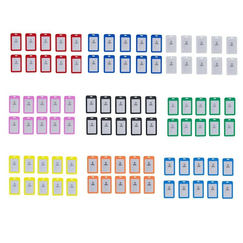 10Pc ID Holder with Neck Lanyard Strap ID Badge Holder Clear Waterproof ID E1Z1