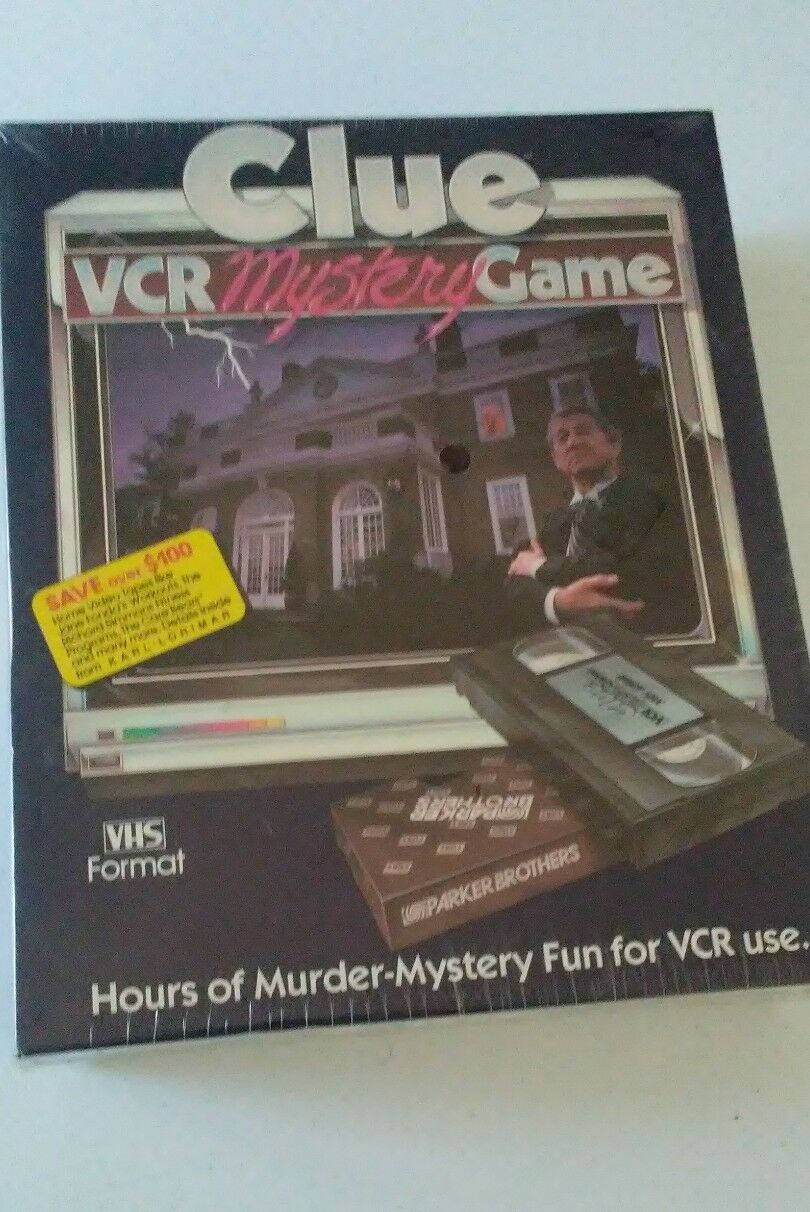 Vintage Clue Clue Clue VCR Mystery Game. Free Shipping. ae1374