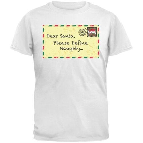 Dear Santa Please Define Naughty White Youth T-Shirt Top