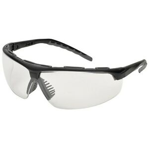 Elvex SG-56C-AF Denali Clear Anti-fog Lens Black/Gray Frame Safety Glasses NEW