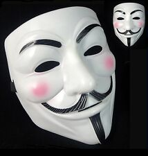 ANONYMOUS HACKER V PER VENDETTA GUY FAWKES COSTUME DA HALLOWEEN MASCHERA