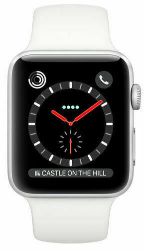 Apple Watch Series 3 42mm Stainless Steel Case Soft White Sport Band Smartwatch Mqk82ll A For Sale Online Ebay