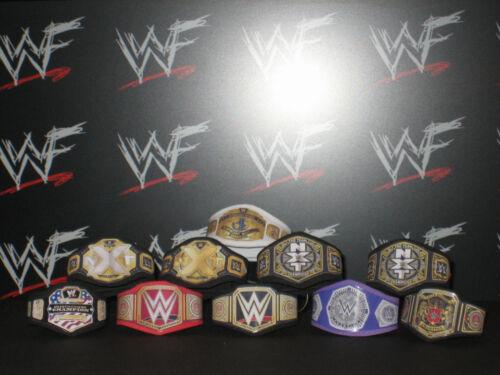 10 x Custom WWF WWE NXT Title Belts For Hasbro Mattel Retro Wrestling Figures