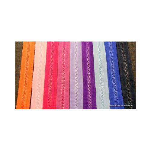 Muchos colores disponibles Cremallera separador REVERSIBLE cazadoras...25cm