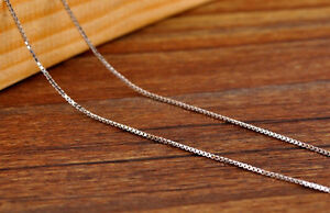 NEW-Pure-Solid-925-Sterling-Silver-Box-Chain-Necklace-Italy