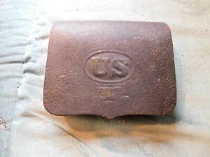 Original U.S. Civil War Leather Cartridge Box