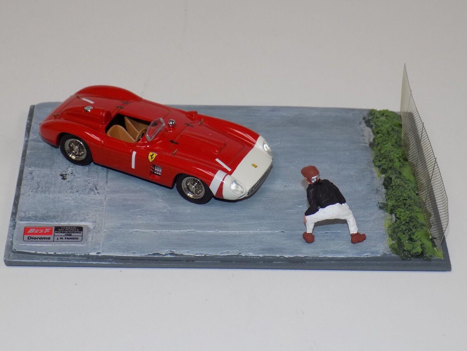 1 43 Best Model Ferrari 860 Monza voiture  1 1965 Nurburgring diorama Fangio  9607