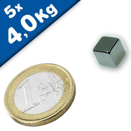 starke Würfelmagnete Neodym Magnet Würfel Magnetwürfel bis 25kg AUSWAHL