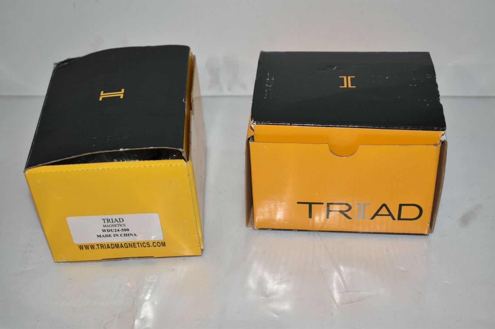 ^^ TRIAD MAGNETICS WDU24-500 AC ADAPTER - LOT OF 2 - NEW (FL100)